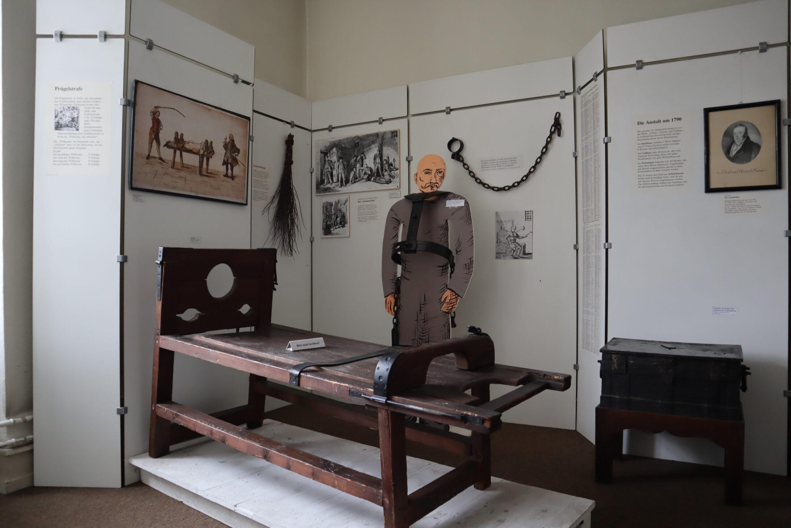 Strafvollzugsmuseum Ludwigsburg´_Diziplinarstrafen 19 Jh