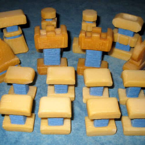Schachfiguren aus Kernseife